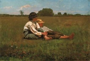 Winslow-Homer-(American-artist,-1836-1910)-Boys-in-a-Pasture